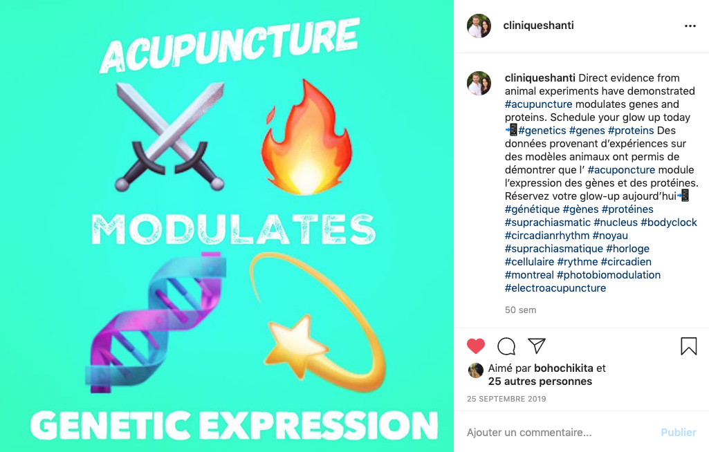 Acupuncture modulates genetic expression