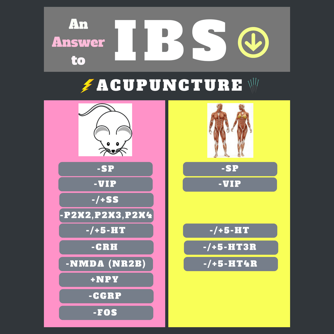 Biomarkers involved in the electroacupuncture (EA) treatment of irritable bowel syndrome (IBS)